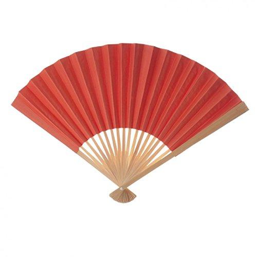 Koyal Wholesale Decorative Paper Fans, Orange Tangerine, Set of 10