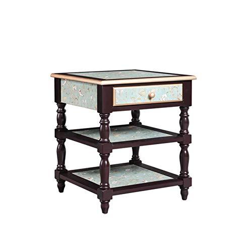XUERUI salontafel tafellamp van hout, drielaags, draagbaar, snack desk sofa, tafel, nachtkastje, hoeken, slaapkamer, woonkamer