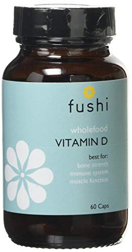 Fushi Whole Food Vitamin D Capsules, 60 Caps | 100% RDA of Vitamin D | Contains Montmorency Cherry & Goji Berry | for Bone Strength, Immune System & Muscle Function | Ethical, Vegan & Made in The UK