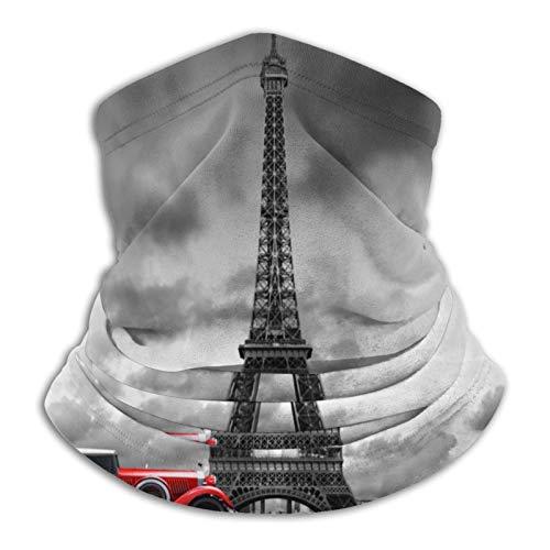 Torre Eiffel Paris Francia Y Rojo Retro Coche Unisex Cara Ma-Sk Multifuncional Bufanda Cuello Polaina Pasamontañas Para Deportes