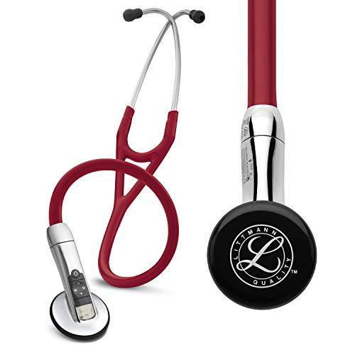 3M Littmann 3200BU Elektronisches Stethoskop, burgunderfarbener Schlauch