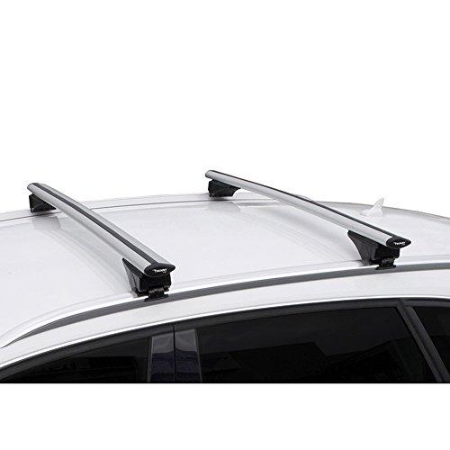 Twinny Load 2166 Universal Juego Techo de Aluminio Fly Bar 124cm para automóviles con Barras longitudinales Abiertos y Cerrados, 124 cm