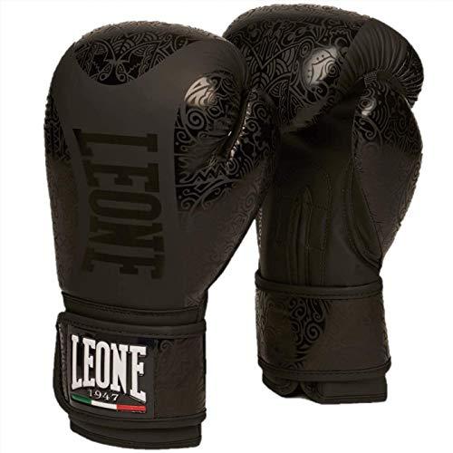 Leone1947 Boxhandschuhe Maori Schwarz - Boxhandschuhe Boxen Kickboxen Sparring Muay Thai (14 Unzen)