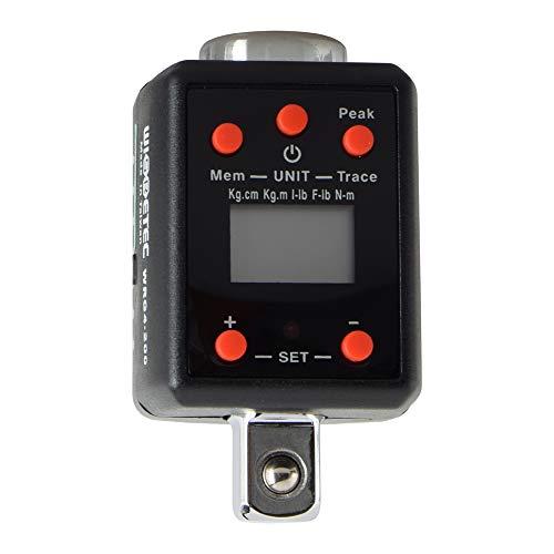 Walmeck Elektronische Digitalanzeige Einstellbare Drehmomentmesser 10-200Nm Professionelle Universalschlüssel