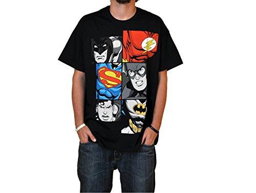 Superhéroes - Camiseta Liga de la Justicia - Batman, Superman & Flash - XL