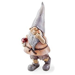 Garden Loving Gnome Ornament Mushroom