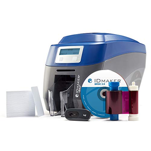 ID Maker Edge Professional ID Card Printer - Prints Premium Quality Pictures Fast & Easy - Easiest to Use Software – 1-Sided Badge Printer Machine