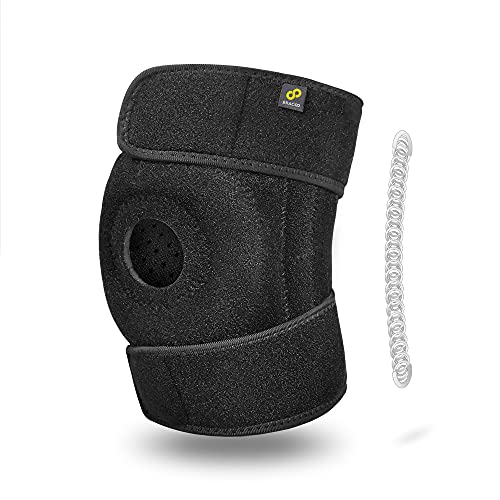 Bracoo Knee Stabilizer Brace, Open-Patella Support - Joint Pain Relief for Sprains, Arthritis, MCL, LCL, Sports Injury & Recovery - KP30
