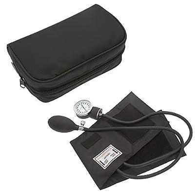 Manual Blood Pressure Monitor BP Cuff Gauge Aneroid Sphygmomanometer Machine Kit (Black)