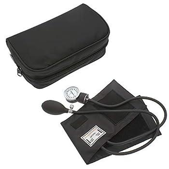 Manual Blood Pressure Monitor BP Cuff Gauge Aneroid Sphygmomanometer Machine Kit  Black