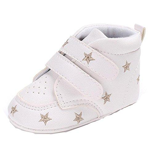 Longra 2017 baby-meisjesschoenen van zacht leer, voor baby's, meisjes, schoenen van zacht leer, sneakers, antislip, zachte zool 11 Goud