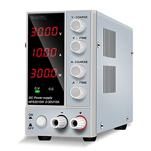 Einstellbare Gleichstromversorgung LED Digitalanzeige Spannungsregler Schalter 30V 10A Laborbank Quelle