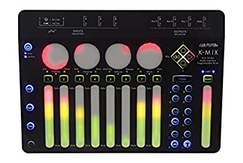 K-Mix Compact 8-Channel Digital Mixer with Effects and Multi-Channel 8x10 USB Audio Interface