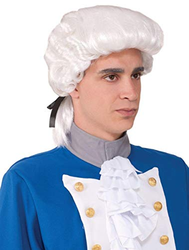 Colonial Man Deluxe Powdered Wig