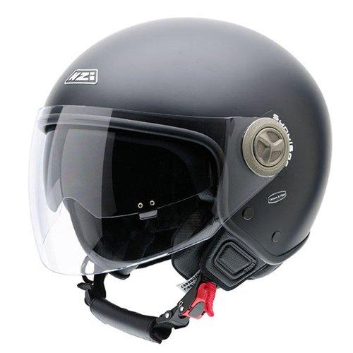 NZI Center Motorradhelm, Schwarz Matte, 58-59 cm
