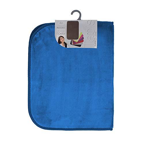 Tapijt, zacht, rechthoekig, 50 x 80 cm, velours, indigo