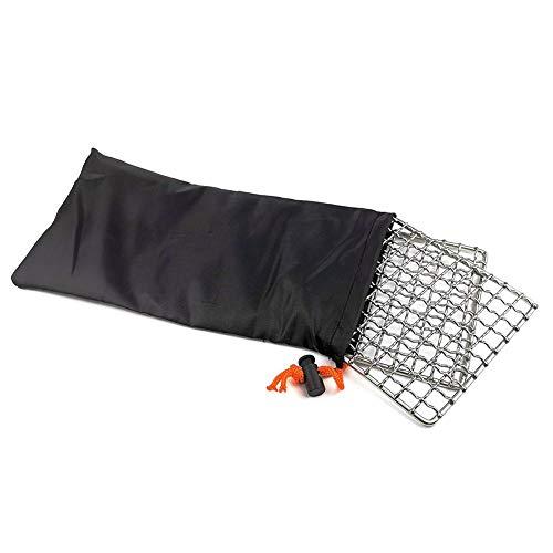 Ruier-hui Kombiniertes 2er-Pack-Grillnetz aus Edelstahl, der ursprüngliche Bushcraft-Grill, einfacher Brennholzgrill, geschweißtes, hochfestes Edelstahlgitter, Grillgitter für Camping im handsomely