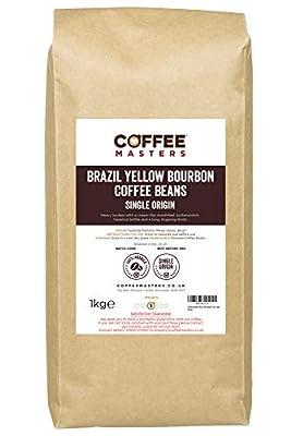Coffee Masters Brazil Yellow Bourbon Coffee Beans 1kg - New