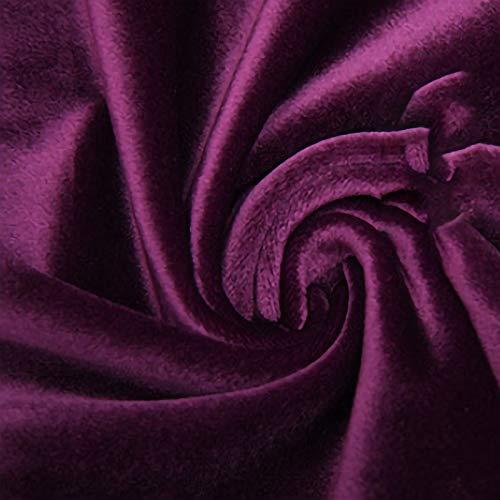 ZXC Tela De Terciopelo 280 cm De Ancho Tela Terciopelo EláStico 1m por Metro Suave para Coser De Chaquetas DecoracióN del Hogar Cortinas TapiceríA(Color:púrpura)