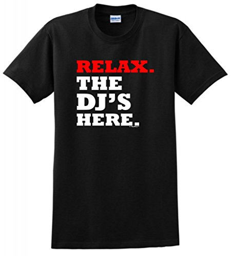 ThisWear Relax The DJ's Here T-Shirt XL Black