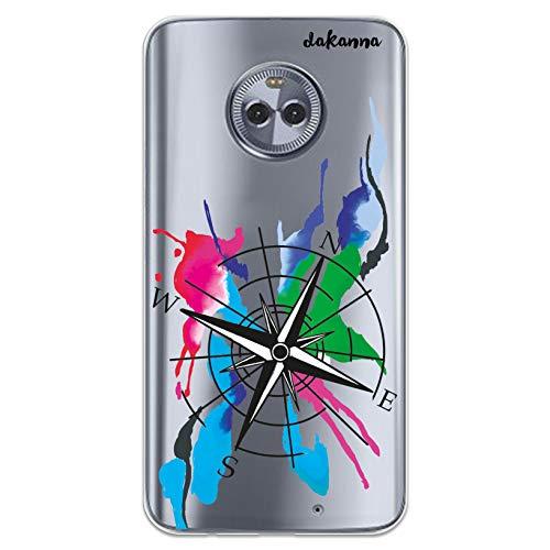 dakanna Funda Compatible con [Motorola Moto X4] de Silicona Flexible, Dibujo Diseño...