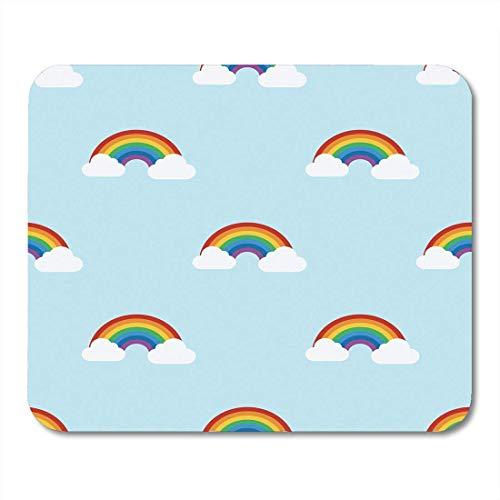 AOHOT Alfombrillas de ratón Blue Pride Rainbow Colorful Paint Abstract Arch Bright...