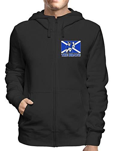 Sweatshirt Hoodie Zip Schwarz TRUG0138 Rugby Scotland