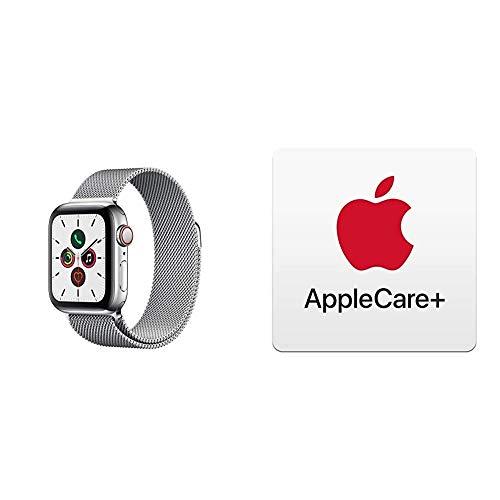 Apple Watch Series 5 (GPS+Cellular, 40 mm) Edelstahlgehäuse - Milanaise Armband mit AppleCare+