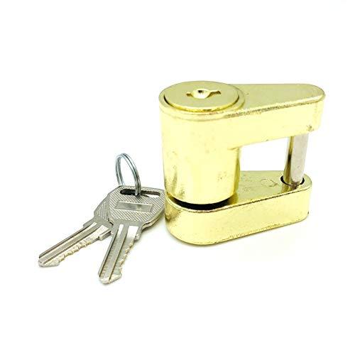 YEXIANG Zink-Legierung Anhängerkupplung Kupplung Schloss for eine Verriegelung Hauling Sicherheit Abschleppen Abschleppstange 2 Keys