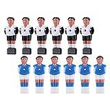TOYANDONA 12 Piezas de Mesa de Estatua de Hombre de Futbolín para Hombre Minijugador de Fútbol Figura de Muñeca Accesorios para Máquina de Fútbol Pieza de Repuesto