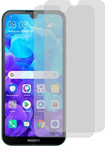 2X Crystal Clear klar Schutzfolie für Huawei Y5 2019 Bildschirmschutzfolie Displayschutzfolie Schutzhülle Bildschirmschutz Bildschirmfolie Folie