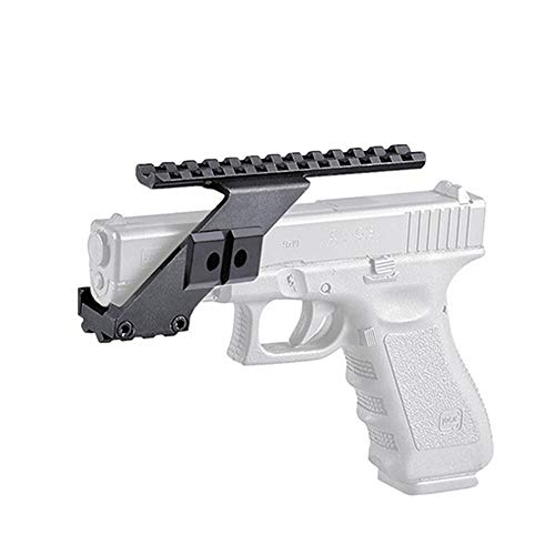 Hygoo Tactical Top & Buttom Picatinny Weaver Pistol Handgun Mount for Red Dot Scope Laser Sight Compatible with Glock