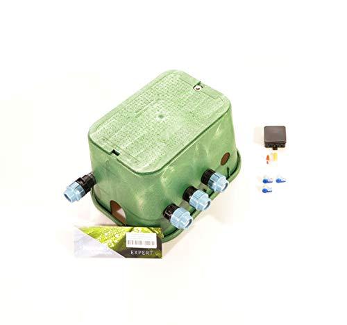Ventilbox EXPERT - 3er Hunter PGV-101-MMB Magnetventil (2 Zonen), mit 32 mm Anschlüssen (1