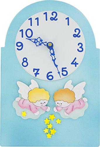 Ferrari & Arrighetti Pelle bassorilievo Horloge avec Anges 30 x 20 cm