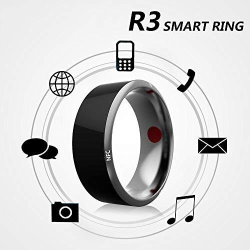 CZX Tragbares Gerät R3 Smart Ring elektronische CNC-Metallmini magischen Ring, IC/ID/NFC-Kartenleser für NFC-Handy,Size 12