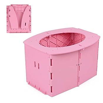 ipekar Kids Travel Potty Portable Folding Potty Training Toilet  Pink