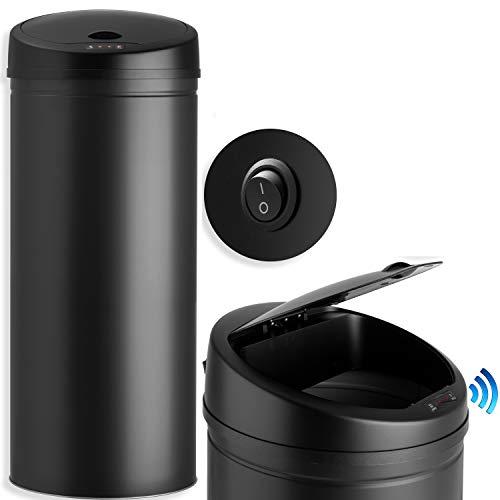 KESSER® Sensor Mülleimer ✓ Automatik ✓ Abfalleimer ✓ Abfall   Edelstahl   Farbe: Schwarz   Größe: 40 L