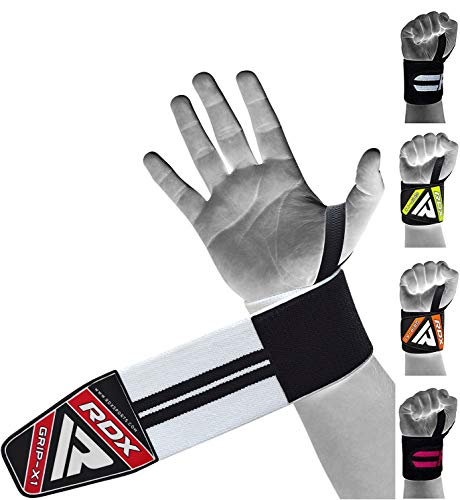 RDX Zughilfen Bodybuilding Handgelenkstütze  Genehmigt von IPL und USPA   Handgelenkbandage Krafttraining Gym Fitness Gewichtheben Zughilfe Klimmzüge Latzughilfe Lifting Straps Griffhilfe (MEHRWEG)