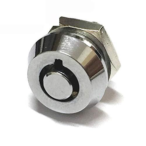 Cerradura de gabinete con cerradura de empuje de hardware con llaves tublar para equipo de caja Cerraduras de cajones Aleación de zinc