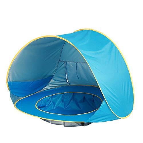 ZHEBEI Tienda de playa de bebé impermeable pop-up parasol de piscina anti-UV toldo infantil al aire libre camping parasol playa