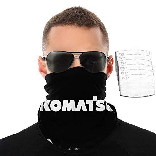 Komatsu Logo Hombres Mujeres Deportes al aire libre Resistente al viento Transpirable Variedad Toalla facial