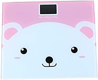 CS-YZC Electronic Scales Cute Cartoon Bathroom Anti-slip Weight Scale With Backlight Display Human Weighing Tool durable (Color : 3) scales for body weight (Color : 2)