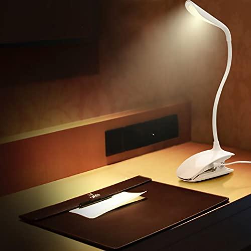 ZHD&CC Luz De Lectura, Lampara Libro De Lectura Recargable De 720° Flexible con 14 LED 3 Modos Lampara Pinza Brillo Ajustable Atenuación Continua para Estudio, Cama, Libro, Viaje