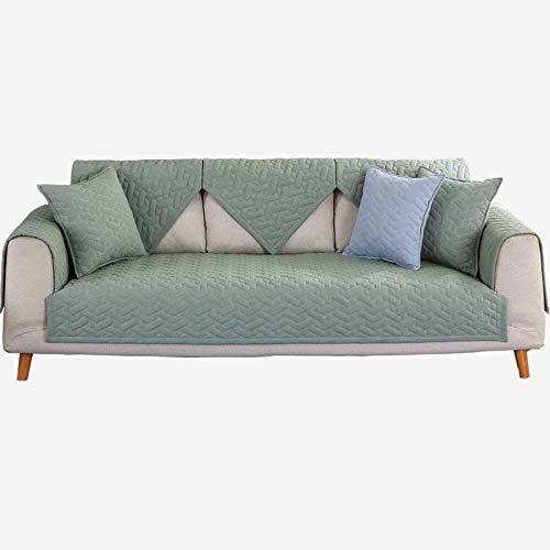 YUTJK Fashion Mehrzweck Sofabezug Sofaüberwurf aus Baumwolle, Couch Überzug, Bettüberwurf Tagesdecke Sofa Überzug, Schnittmuster Sofa Teppich, Kann als Teppich, Grün