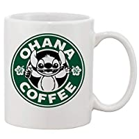 Ohana Coffee Lilo and Stitch Mug Cup Two Sides 11 Oz Ceramics by Phone Case