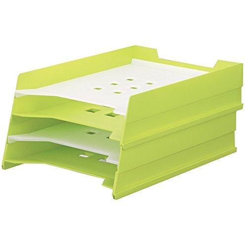 リヒトラブ マルチレタートレー A4 黄緑 A7300-6