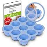 KIDDO FEEDO Freezer Tray with Silicone Clip-on Lid, Making Homemade Baby Food Storage Super Easy -...