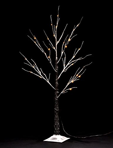 Bolylight 4ft Lighted Snow Tree LED Christmas Decorations for Home/Bedroom/Party, Outdoor and Indoor Use Warm White
