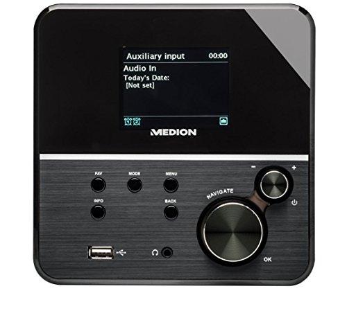 MEDION P85040 Internet Digital Schwarz Radio tragbar – Tragbares Radio (Internet, digital, FM, 10 W, IEEE 802.11a, IEEE 802.11b, IEEE 802.11g, IEEE 802.11n, WEP, WPA)