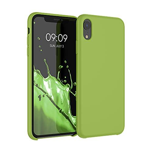 kwmobile Carcasa Compatible con Apple iPhone XR - Funda de Silicona para móvil - Cover Trasero en Verde Pimiento